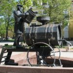 Kronshtadt Water carrier, Russia. Disappeared profession monuments