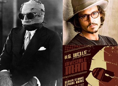 The Invisible Man 1933-2016. Johnny Depp is supposed to star in The Invisible Man 2016 film