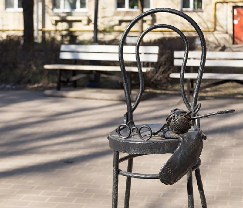 The chair of beloved grandmother, or Granny's place. Zelenogorsk (Leningrad region)