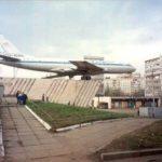Tupolev Tu-104 monument in Rybinsk