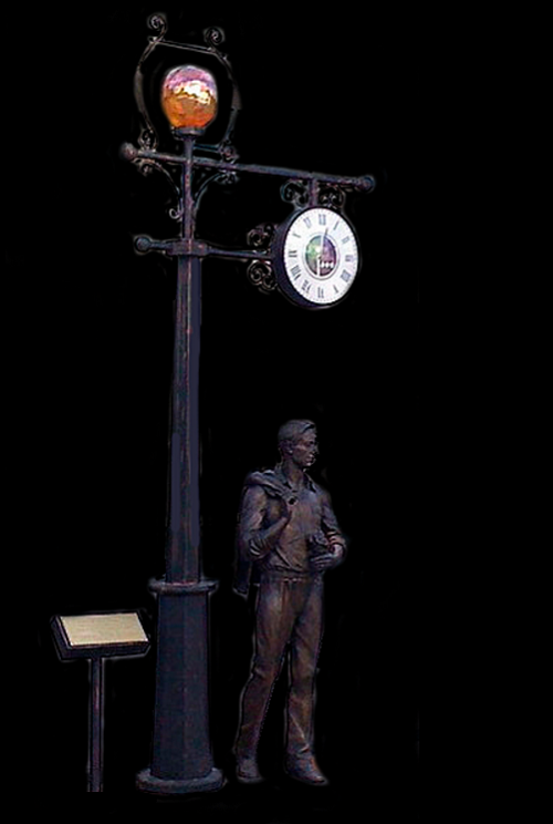 Bachelor bronze monument