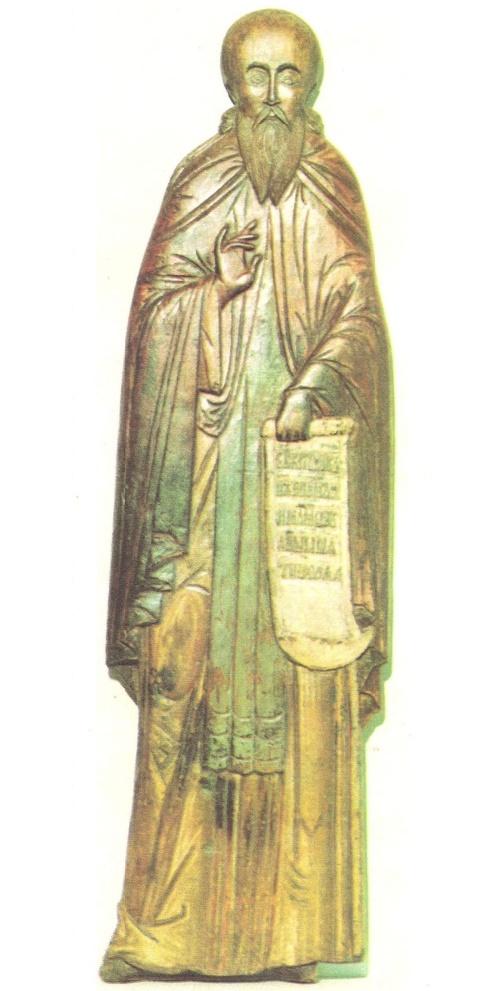 Barlaam of Khutyn. Wood, coloring. XVI century. Restorer MA Ovchinnikov. Novgorod Museum Reserve