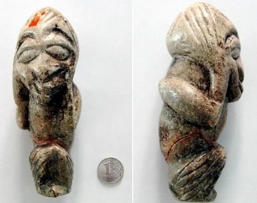 Bronze Age figurine from the village of Pokrovka. (Image credit iskonno.ru)