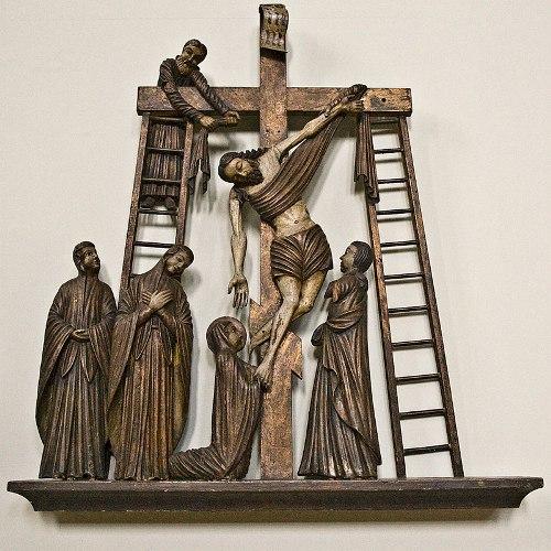Perm Gods Wooden Sculpture. Descent from the Cross