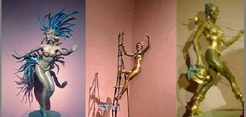 Works by Italian sculptor Gina Lollobrigida