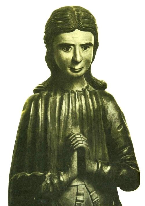 Perm Gods Wooden Sculpture. John the Evangelist. Detail of 'Crucifixion'. The village of Ust-Kachka. Wood, gesso, tempera. XVIII century