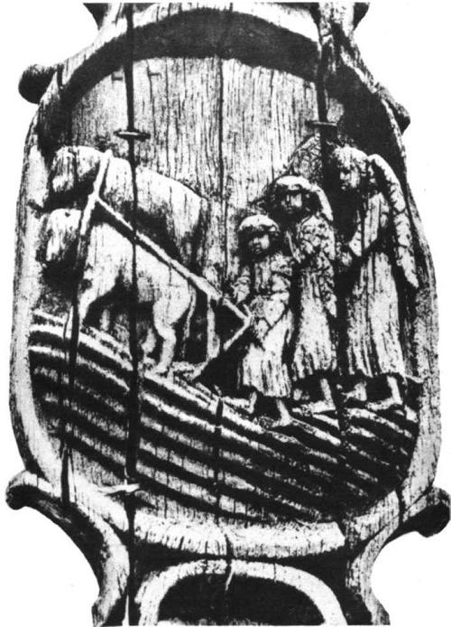Wooden composition of ancient folk sculptor Vintas Svirskis