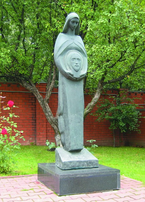 The Virgin with image of Christ. 1994 Author FM Soghoyan. Bronze. Moscow