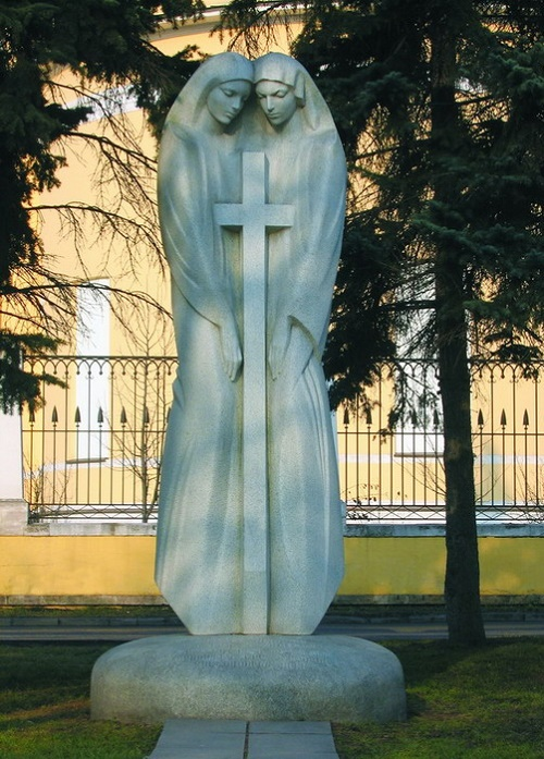 'Uniform Cross' Monument. Granite. Moscow. 1997 Granite. Authors FM Soghoyan, VF Soghoyan