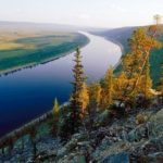 Lena River monument Eastern Siberia
