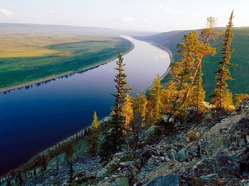 The Lena, beautiful Siberian river