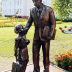 Russian scientist Konstantin Tsiolkovsky monument