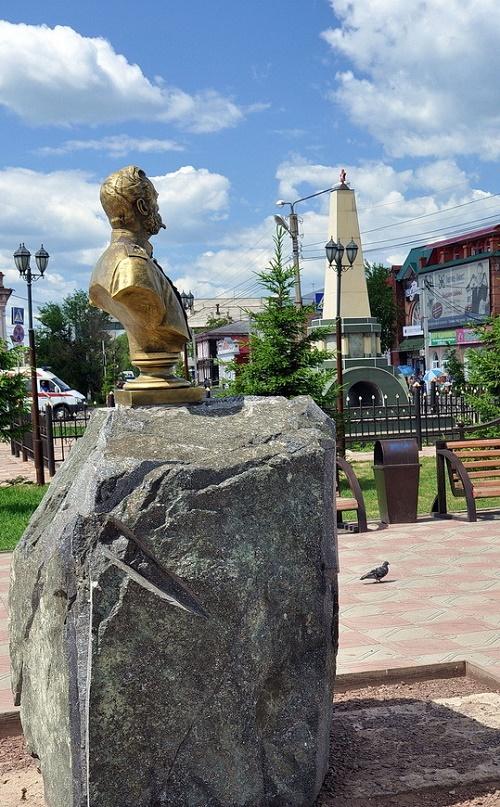 Bust of Emperor Alexander II, Mariinsk, Kemerovo region, Russia