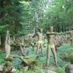 Creepy sculptures with human teeth