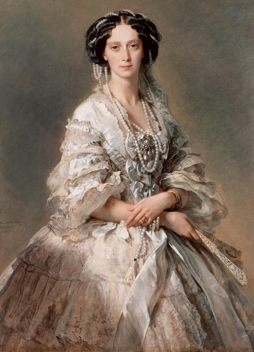 Portrait of Russian Empress Maria Alexandrovna (1824 - 1880). Artist Franz Winterhalter, 1857 (Hermitage)