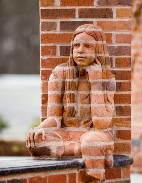That is pretty neat. Brad Spencer brick sculptural compositions