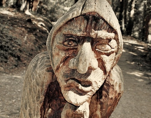 The Hill of Witches wooden sculpture