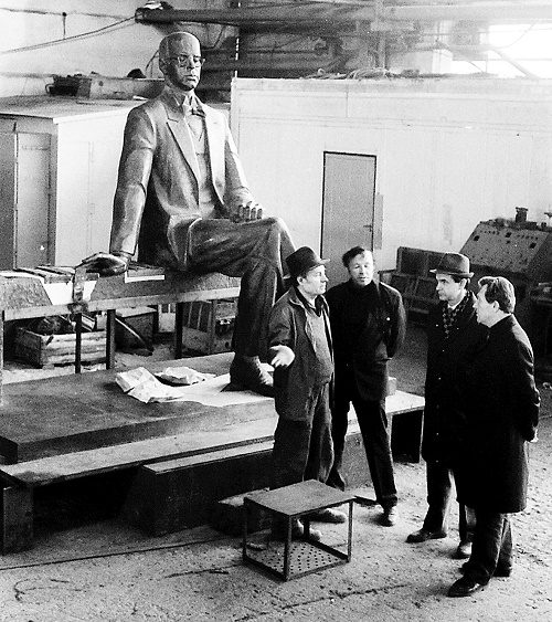 Construction of monument to Prokofiev in Donetsk