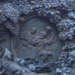 Fable writer Ivan Krylov monument in Saint Petersburg