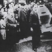 Funeral of Malivich. Supermatic coffin carried by Suetin