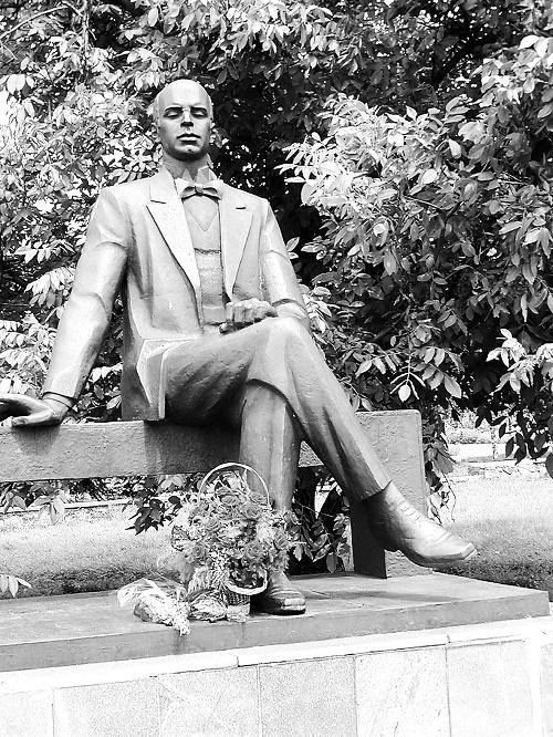 Krasnoye, Donetsk region. Monument to Prokofiev. Opened 21 April, 1991
