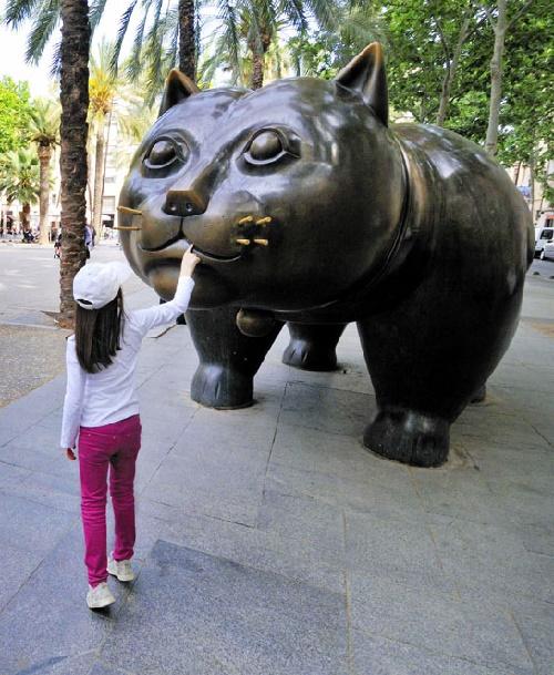 Raval cat. Barcelona, Spain