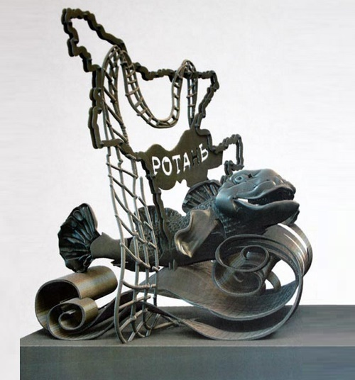Sculpture of Rotan fish, known as Amur sleeper