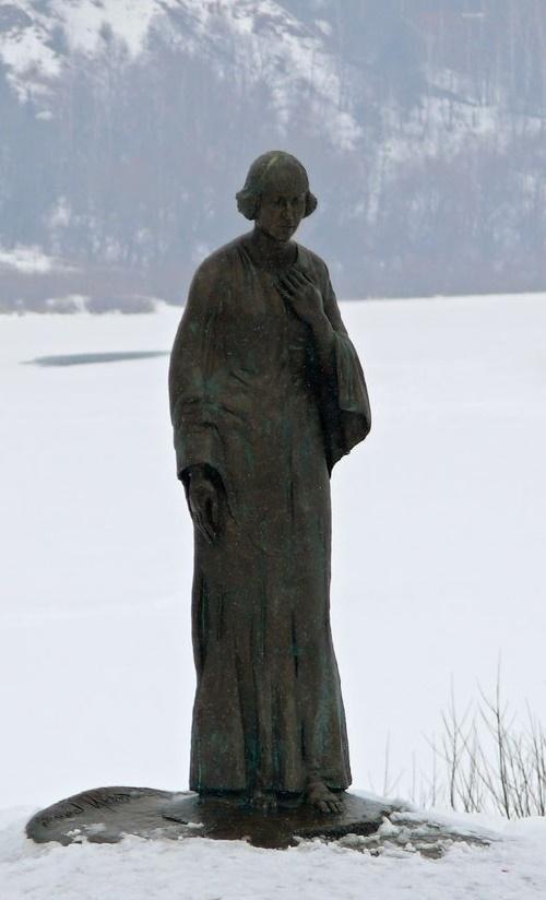 Monument to silver age poetess Marina Tsvetaeva