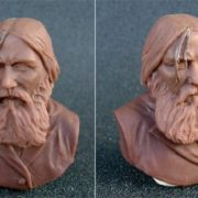 Cernit Bust of G.E. Rasputin. Jerusalem. 2008