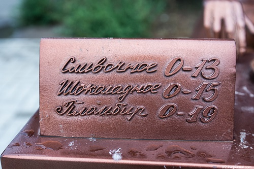 Detail of monument - ice-cream prices