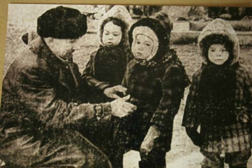 Philanthropist Asgat Galimzyanov with orphans