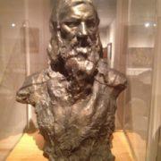 The Tel Aviv Museum of Fine Arts, bronze bust of Rasputin. Work by Aronson 1914-1915