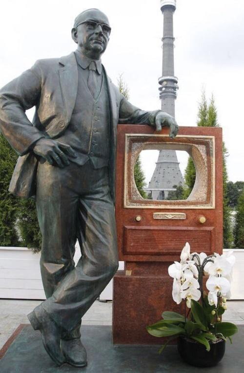 Russian-American engineer Vladimir Zworykin monument