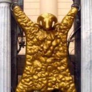 Closeup Golden Fleece monument