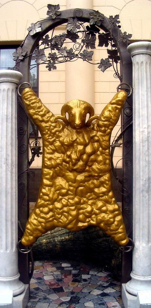 Detail of Golden Fleece monument