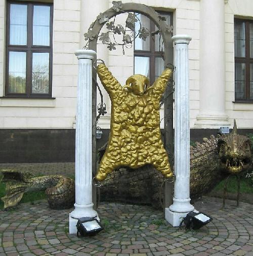 Golden dragon guarding the Golden Fleece