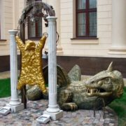 View of Sochi monument to Golden Fleece