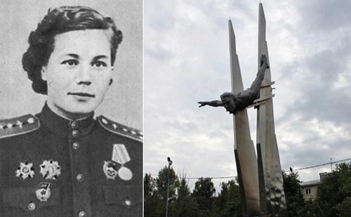 Monument to brave female pilot Olga Sanfirova