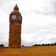 Big Ben straw sculpture at Snugburys in Hurleston near Nantwich
