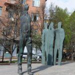 Poet Joseph Brodsky monument in Moscow