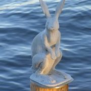 Hare monument in St. Petersburgу