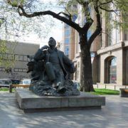 Novinsky Boulevard, Moscow. Feodor Chaliapin monument next to his house-museum