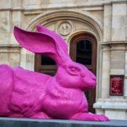 Pink rabbit at Vienna State Opera. Austria
