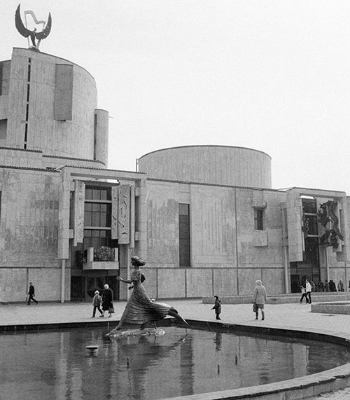 The building of the Moscow State Academic Music Children's Theater named after Natalia Sats. 1984