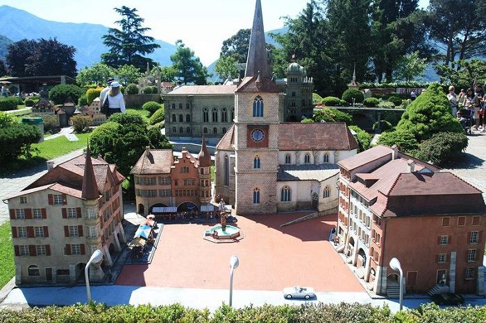 Beautiful park of miniatures