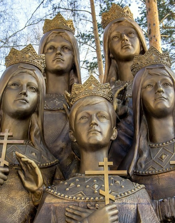 Bronze monument to the children of Russian Tsar Nicholas II. Sculptor Igor Akimov. Installed November 16, 2011