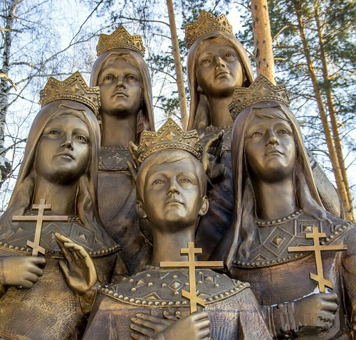 Monument to the children of Russian Tsar Nicholas II. Sculptor Igor Akimov. Installed November 16, 2011