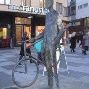 Nizhny Novgorod, bicyclist