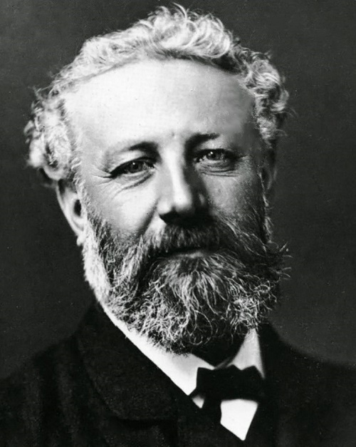 Portrait photo of great French writer Jules Verne