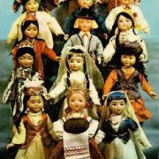 Soviet republics. Dolls in national costumes